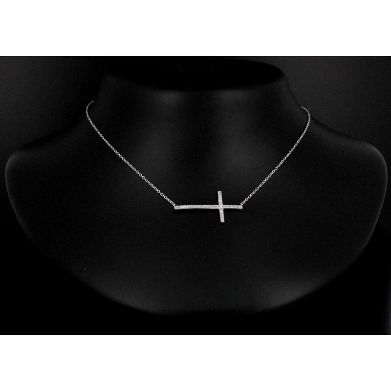 Collier croix Zircon Argent 925