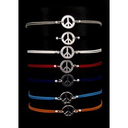 Bracelet Peace end Love Argent