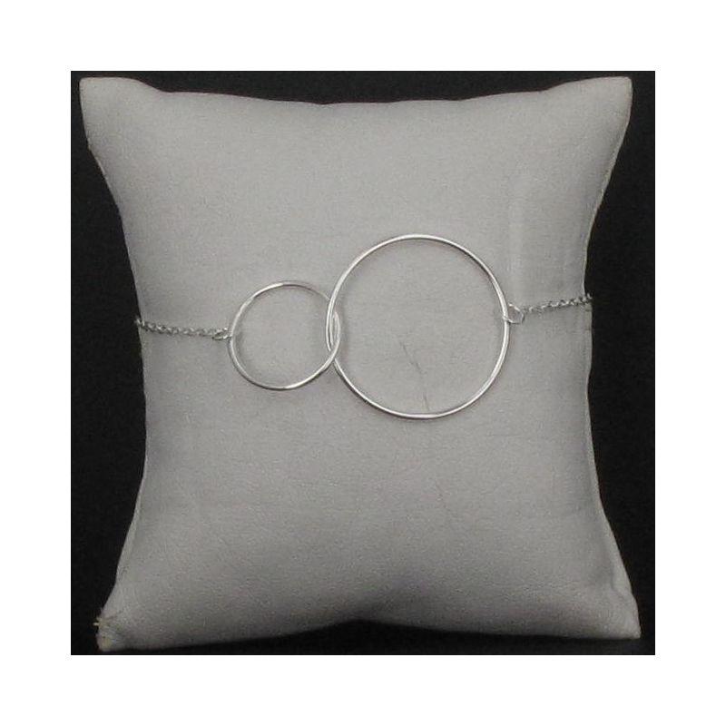 Bracelet deux cercles gros modèle Argent 925