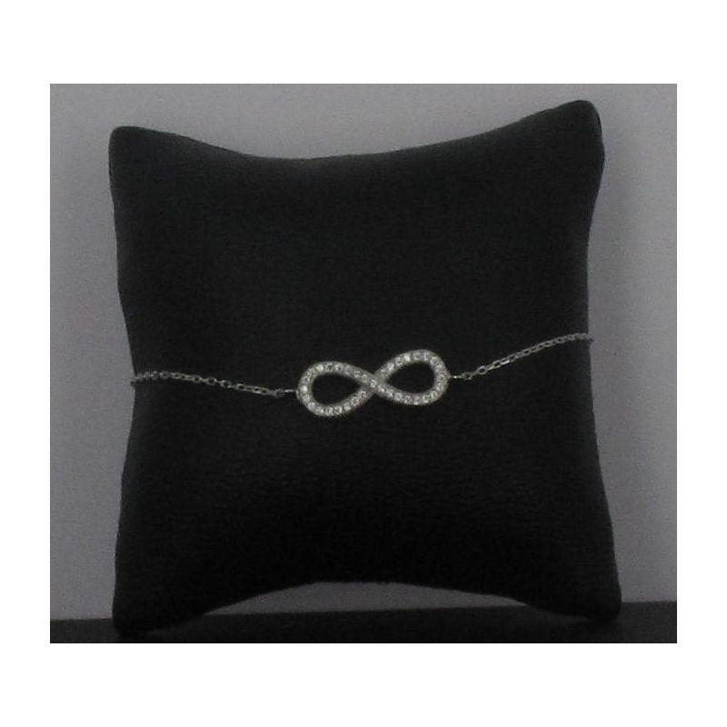 Bracelet Infini Argent 925 Crital zircon.