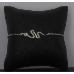 Bracelet Serpent strassé Argent 925