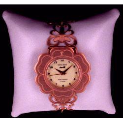 Montre Bijou Camélias Palquée Or Rose Papillon