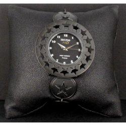 Montre Bijou Etoile Métal Noir Petit Modèle
