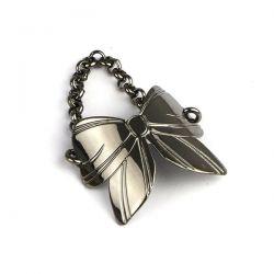 Bague Butterfly Chaînette ruthénium