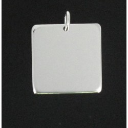 Plaque carré à gravé argenté 25/25 m/m