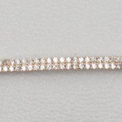 Bracelet Double Rangs Grand Modèle Plaqué Or Rose