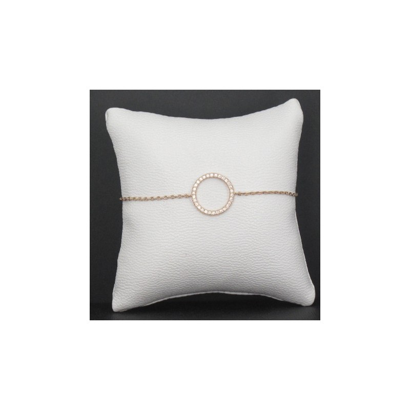 Bracelet Femme Cercle Plaqué Or Strass