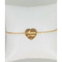 Bracelets Maman je t'aime Plaqué OR