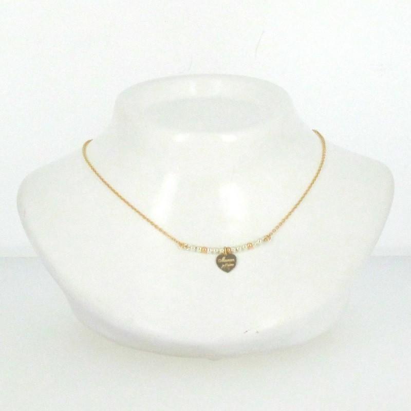collier perle coeur