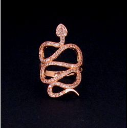 Bague Serpent GM Plaqué Or Rose