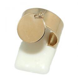 Bague plateau réglable plaqué or