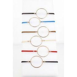 Bracelet élastique Grand Anneau Doré