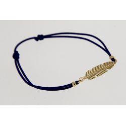 Bracelet élastique Plume Dorée