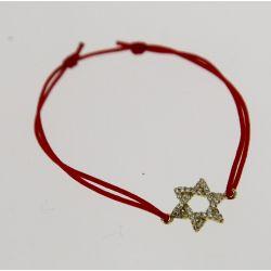 Bracelet élastique Etoile Strass Swarovski Rouge