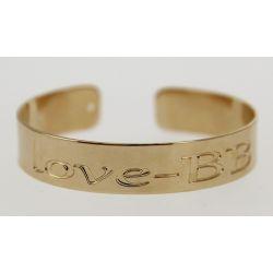Bracelet Jonc Fin Message Love BB Plaqué Or